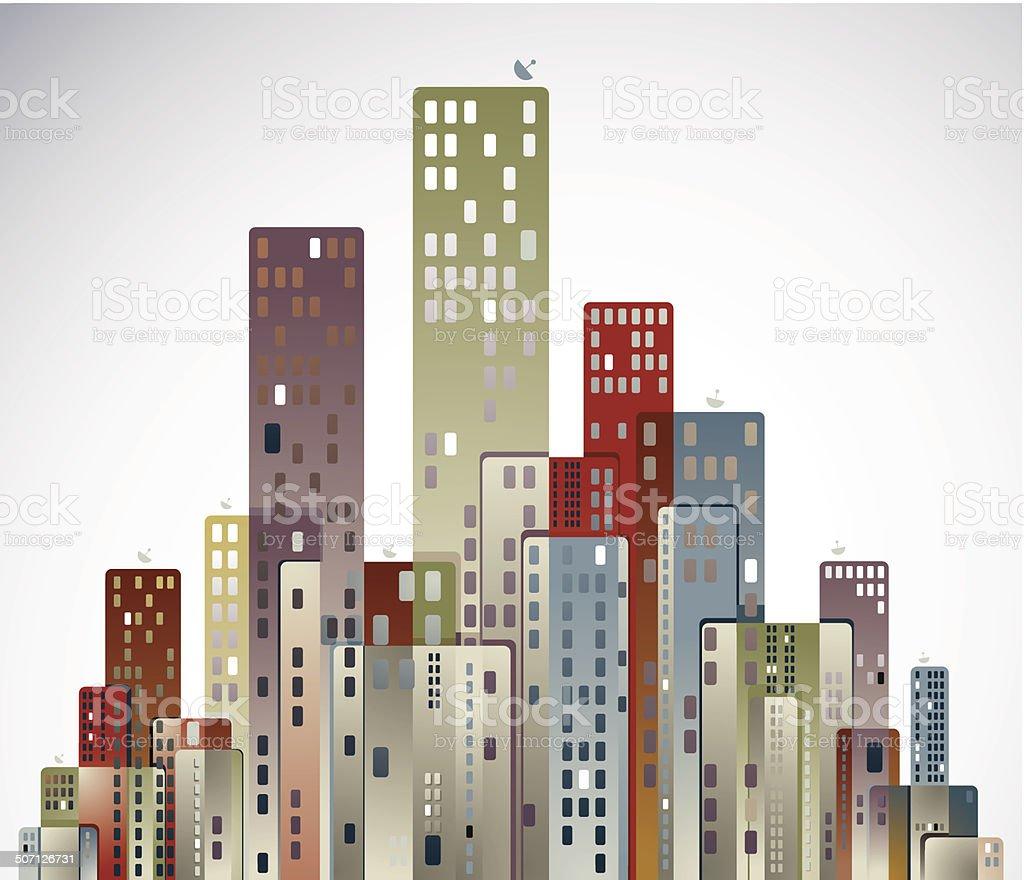 Modern city panorama. royalty-free stock vector art