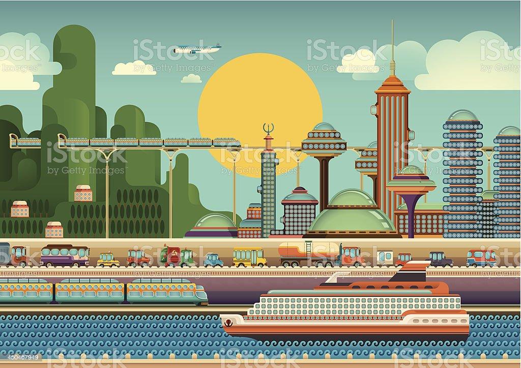 Modern city scene. royalty-free stock vector art