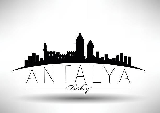 moderne stadt skyline-design - alanya stock-grafiken, -clipart, -cartoons und -symbole