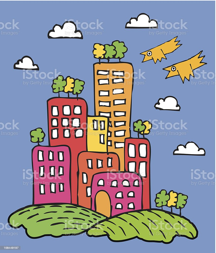 Modern city royalty-free stock vector art