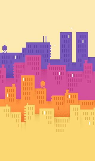 Modern City Vertical Background