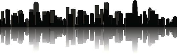 モダンな景観 - 都市 モノクロ点のイラスト素材/クリップアート素材/マンガ素材/アイコン素材