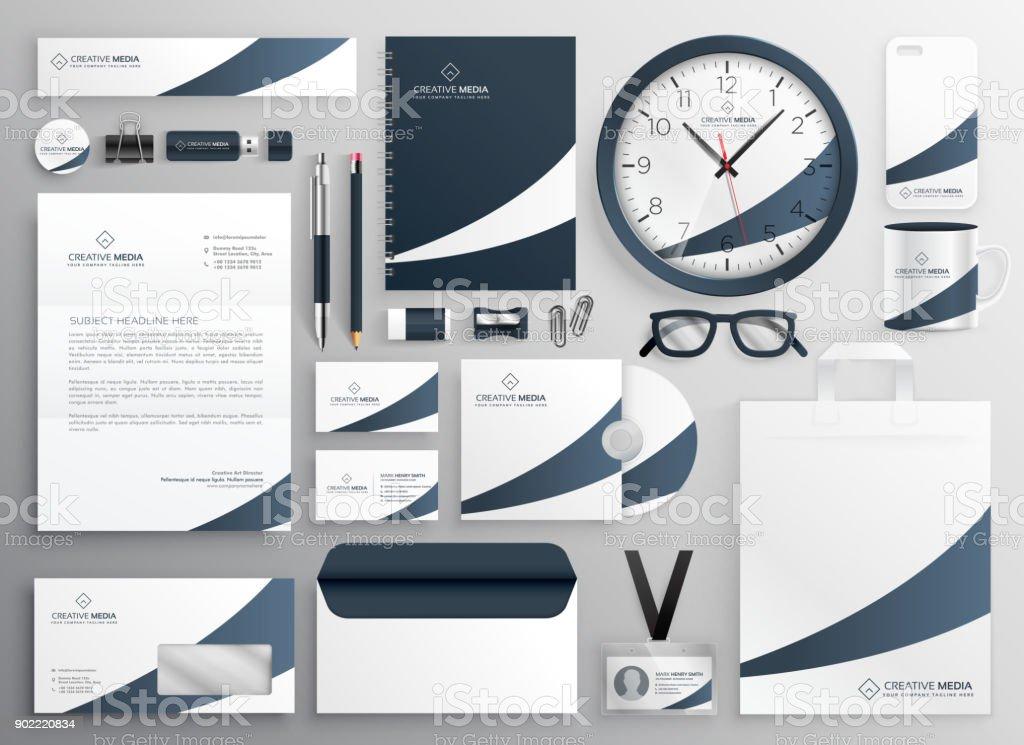 Moderne Saubere Marke Vorlage Schreibset Stock Vektor Art und mehr ...