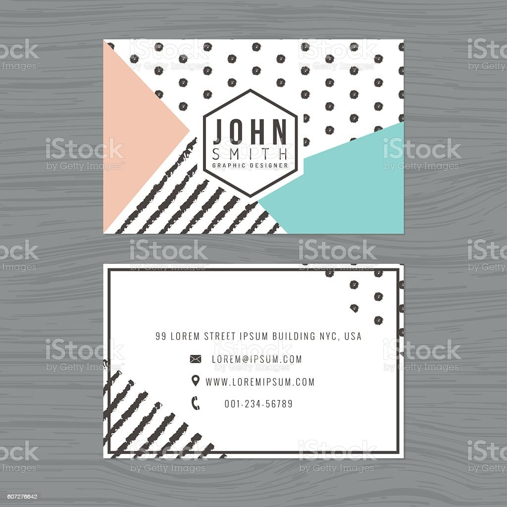 Modern clean business card template in stripes polka dot background modern clean business card template in stripes polka dot background royalty free modern fbccfo Gallery