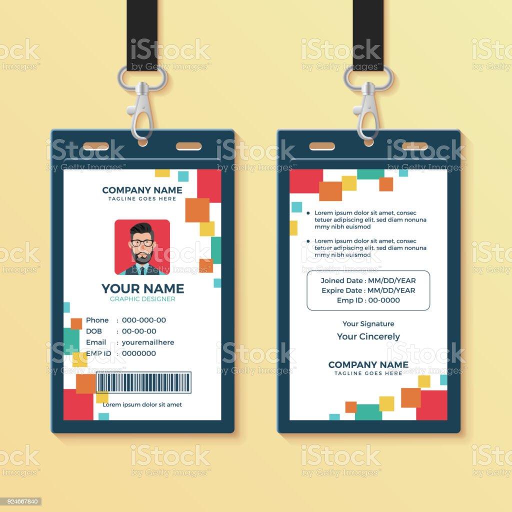 Ilustración de Plantilla De Diseño De Identificación Gráfica Limpia ...