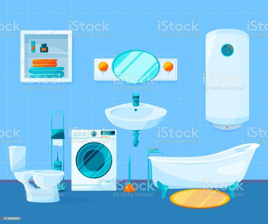 Limpiar el interior moderno de cuarto de ba o im genes de for Como limpiar las baldosas del bano