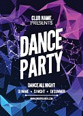 Modern Club Music Party Template, Dance Party Flyer, brochure. Night Party Club sound Banner Poster