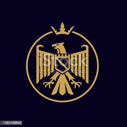 istock modern coat of arm heraldic luxury eagle crest vector icon 1282439940