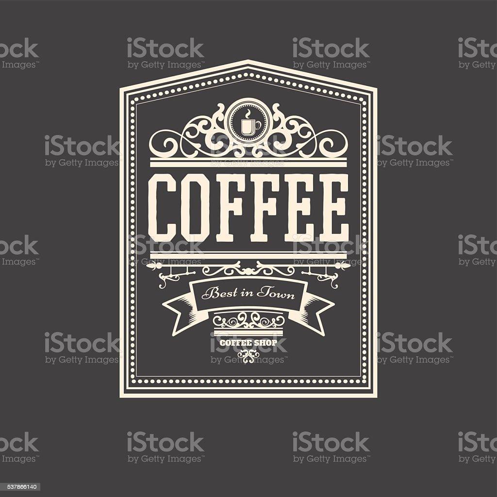 Modern Coffee Badge for coffee shop
