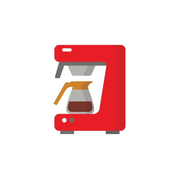 Moderne Kaffee-Maschine-Symbol. – Vektorgrafik