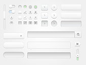 Modern vector collection of clean and minimal white web elements for your multimedia projects. High resolution jpeg file included(300dpi).