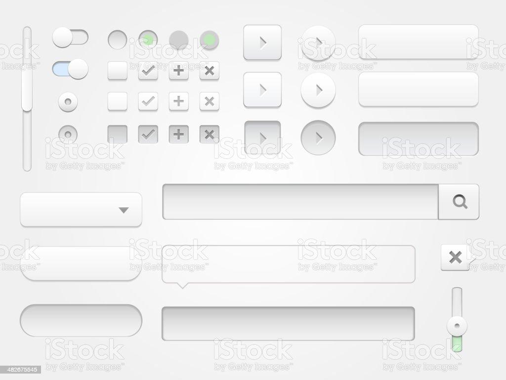 Moderno colección de elementos web para proyectos multimedia. - ilustración de arte vectorial