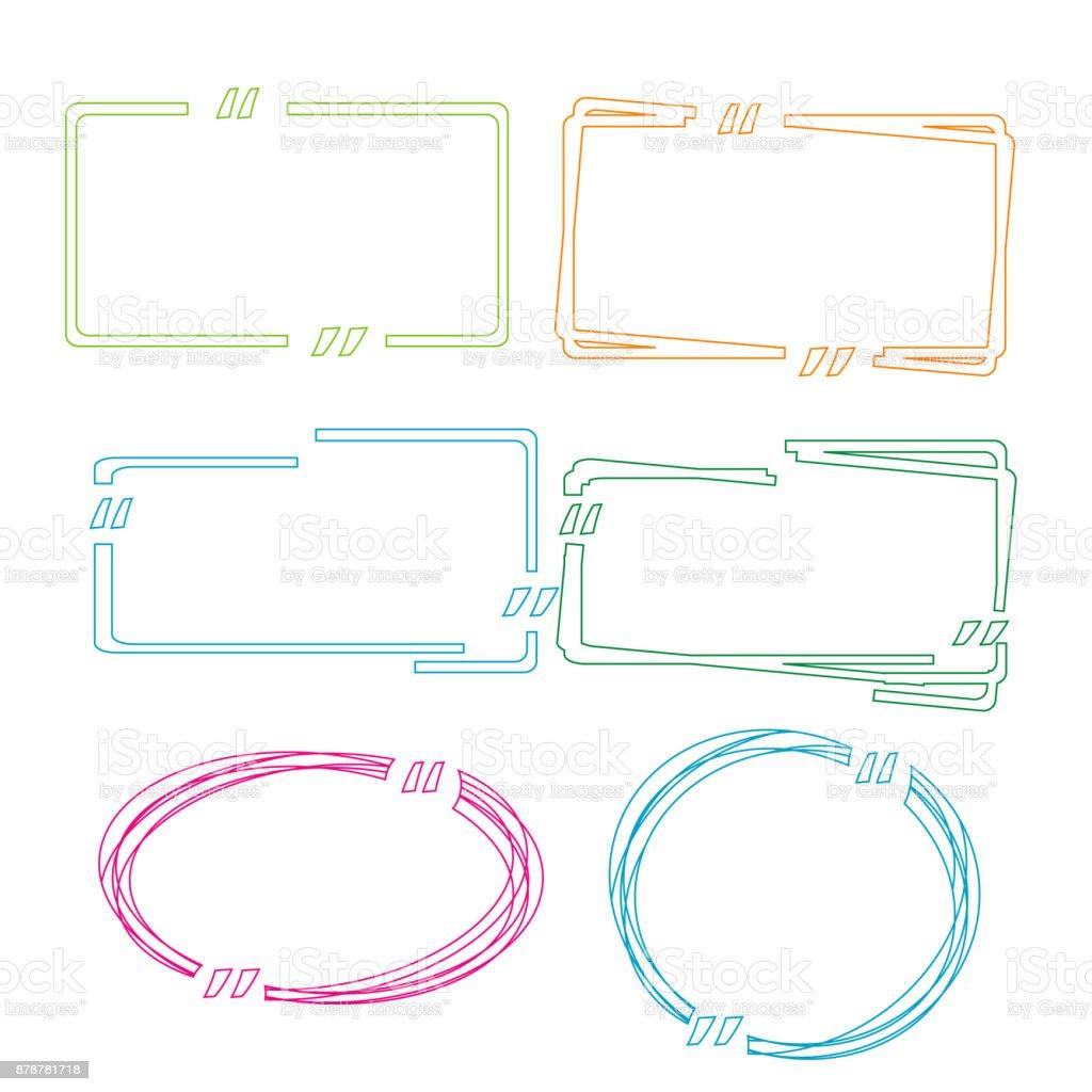 Moderne Farbe Zitieren Vorlagen Blase Leer Angebotsvorlage