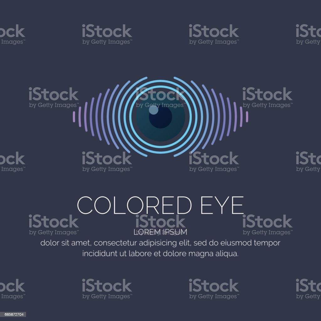 Moderne farbige Emblem Auge – Vektorgrafik