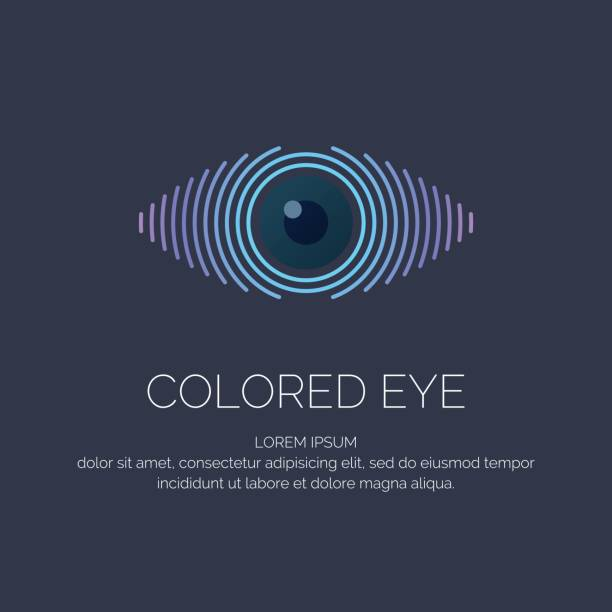 modern colored emblem eye - глаз stock illustrations