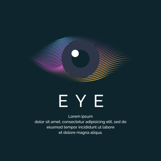 modern colored logo eye - глаз stock illustrations