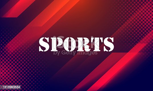 istock Modern colored poster for sports stock illustration 1313963534