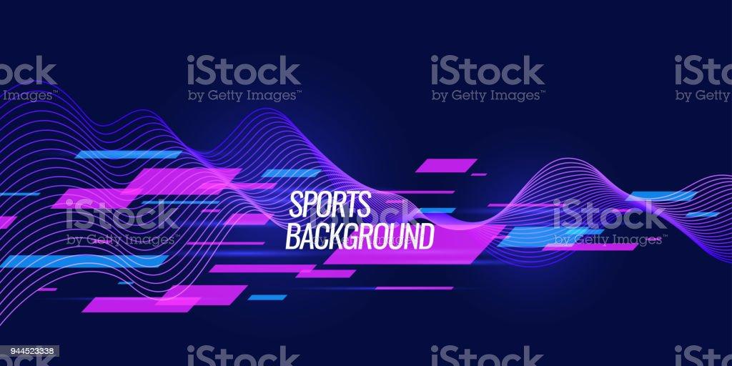 Cartel de colores moderno para deportes ilustración de cartel de colores moderno para deportes y más vectores libres de derechos de a la moda libre de derechos