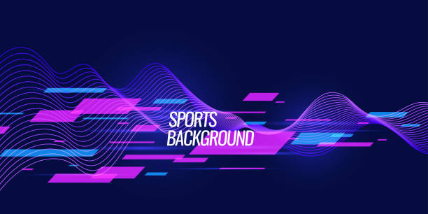 Modern colored poster for sports vector art illustration