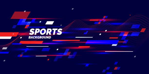 スポーツのためのモダンな色ポスター - スポーツ点のイラスト素材/クリップアート素材/マンガ素材/アイコン素材