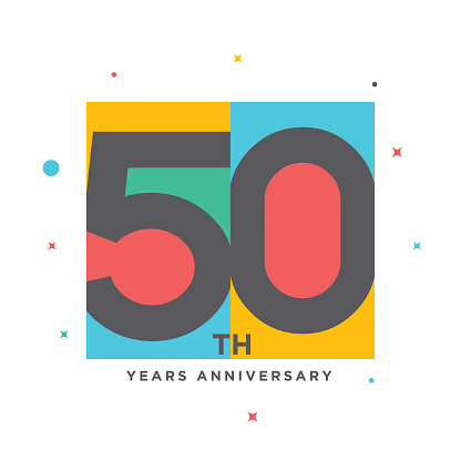 Modern colorful anniversary logo template isolated, anniversary icon label, anniversary symbol stock illustration