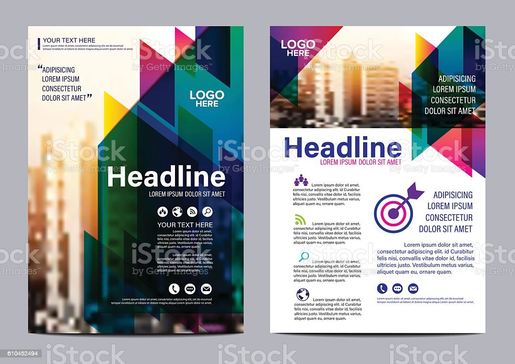 modern colorful brochure layout design template illustration vector