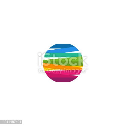 istock Modern Colorful Circle Logo template designs vector illustration, Colorful Ball Logo 1211487421