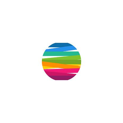Modern Colorful Circle Logo template designs vector illustration, Colorful Ball Logo