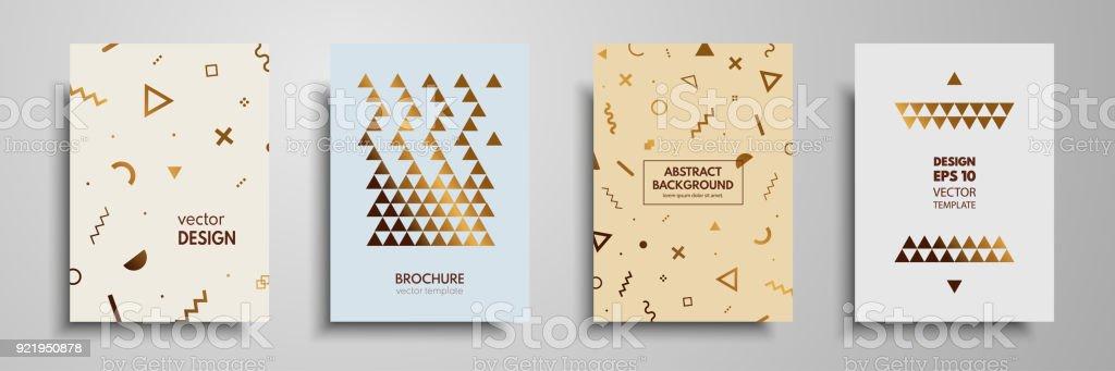 Moderne Farbige Abdeckungen Mit Bunten Geometrischen Formen Und ...