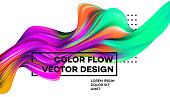 Modern colorful flow poster. Wave Liquid shape in white color background. Art design for your design project. Vector illustration EPS10