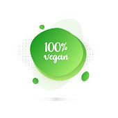 Modern Colorful Fluid Liquid Abstract Design - 100% Vegan Products Badge