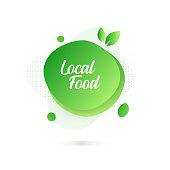 Modern Colorful Fluid Liquid Abstract Design - Local Food Badge