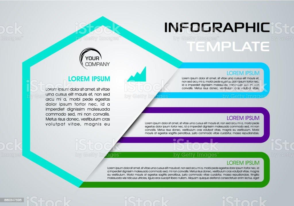 Moderne Farbige Infografiken Optionen Vorlage Vektor Mit Blauen ...
