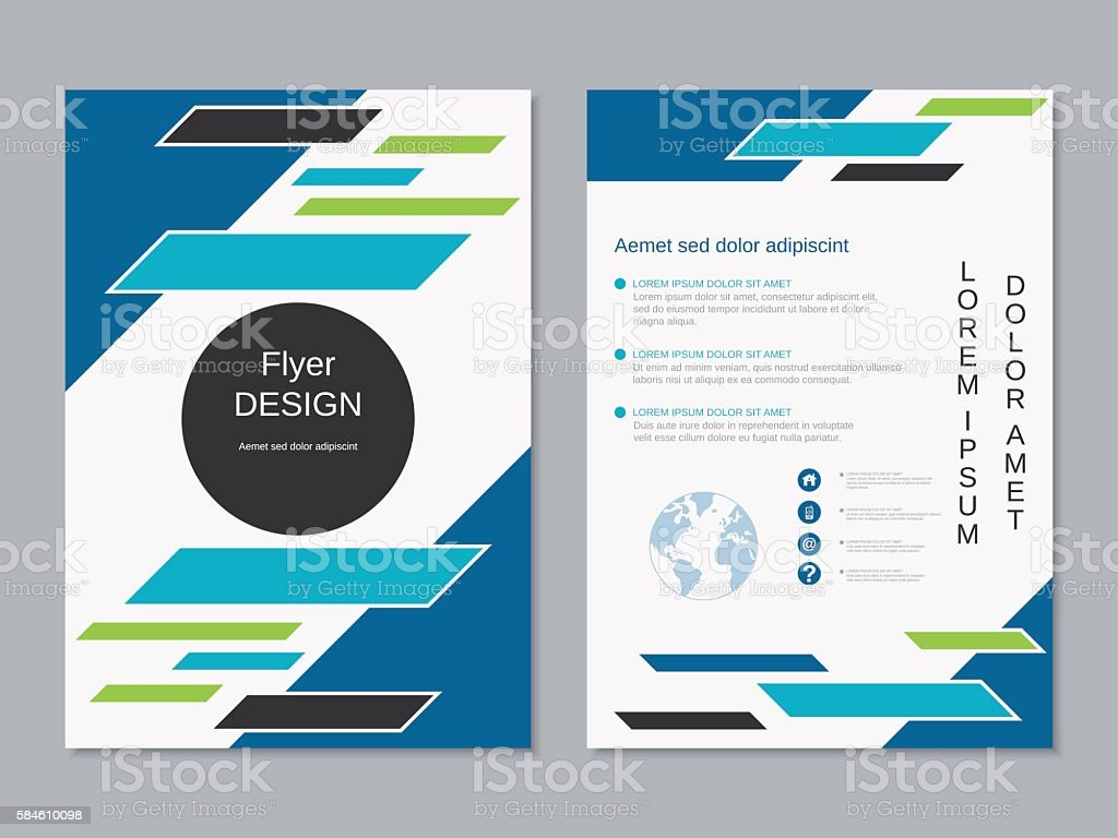 Modern colorful two-sided professional flyer template