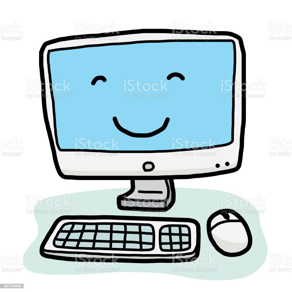 Modern Computer Cartoon Stock Illustration Download Image Now Istock