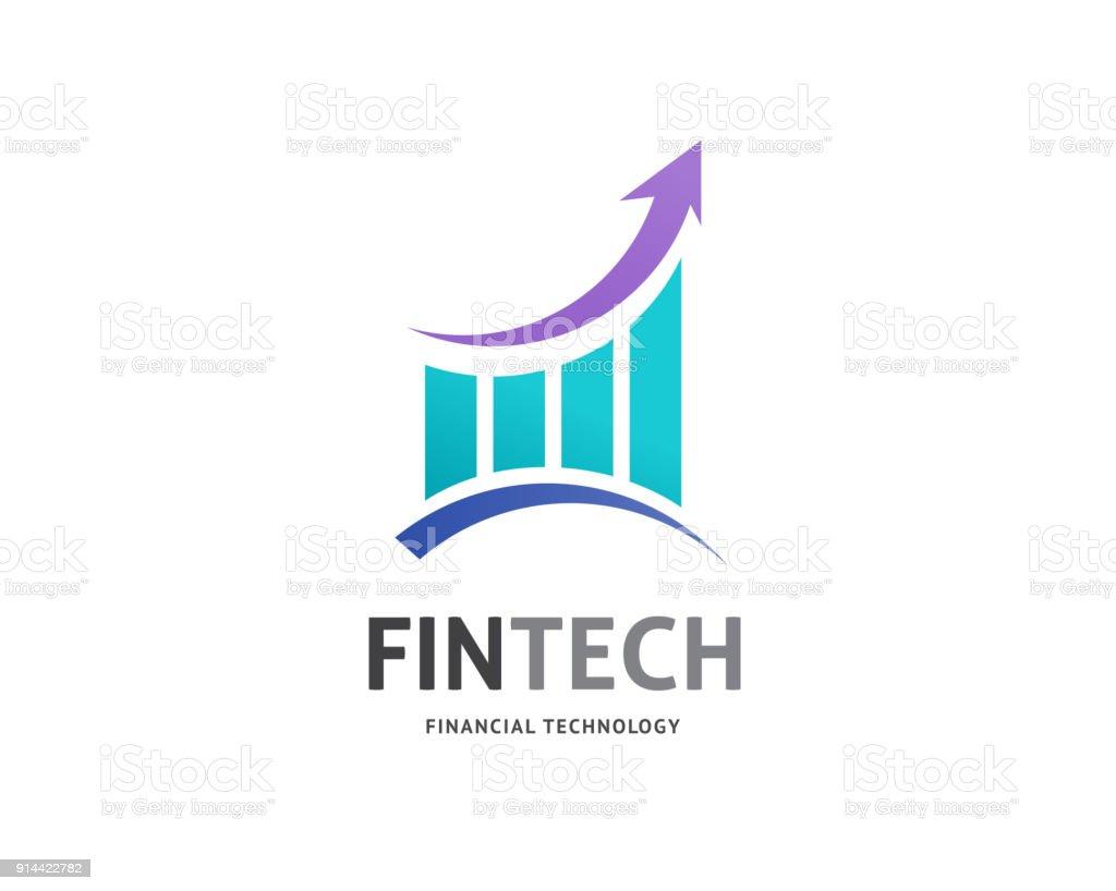 Modern  concept design for fintech vector art illustration