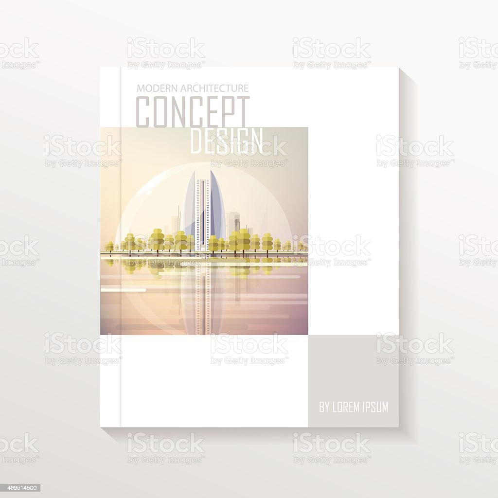 Modern Book Cover Notes : Modern contemporary futuristic real estate book cover