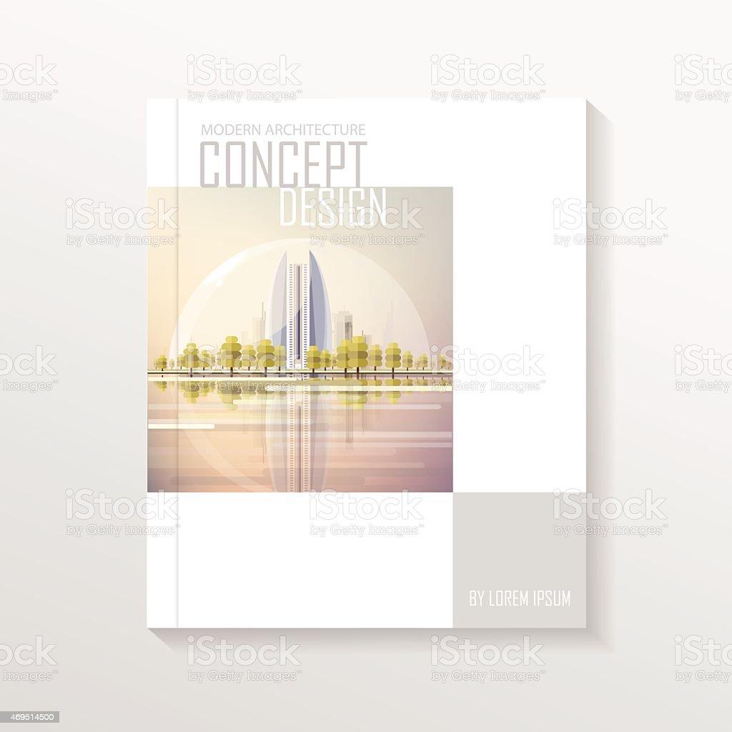 Modern Book Jacket Design ~ Modern contemporary futuristic real estate book cover