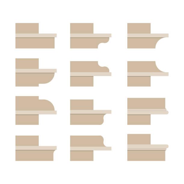 modern cornice. - gesims stock-grafiken, -clipart, -cartoons und -symbole