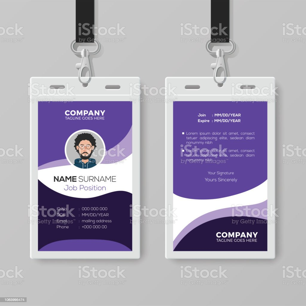 Modern Corporate Id Card Design Template Stock Illustration Throughout Company Id Card Design Template