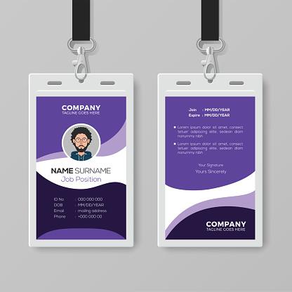 Modern Corporate ID Card Design Template