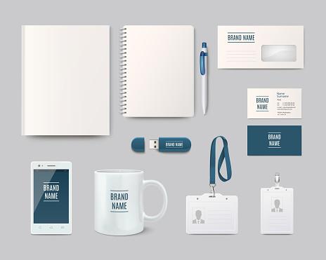 Modern corporate identity template design. Vector illustration