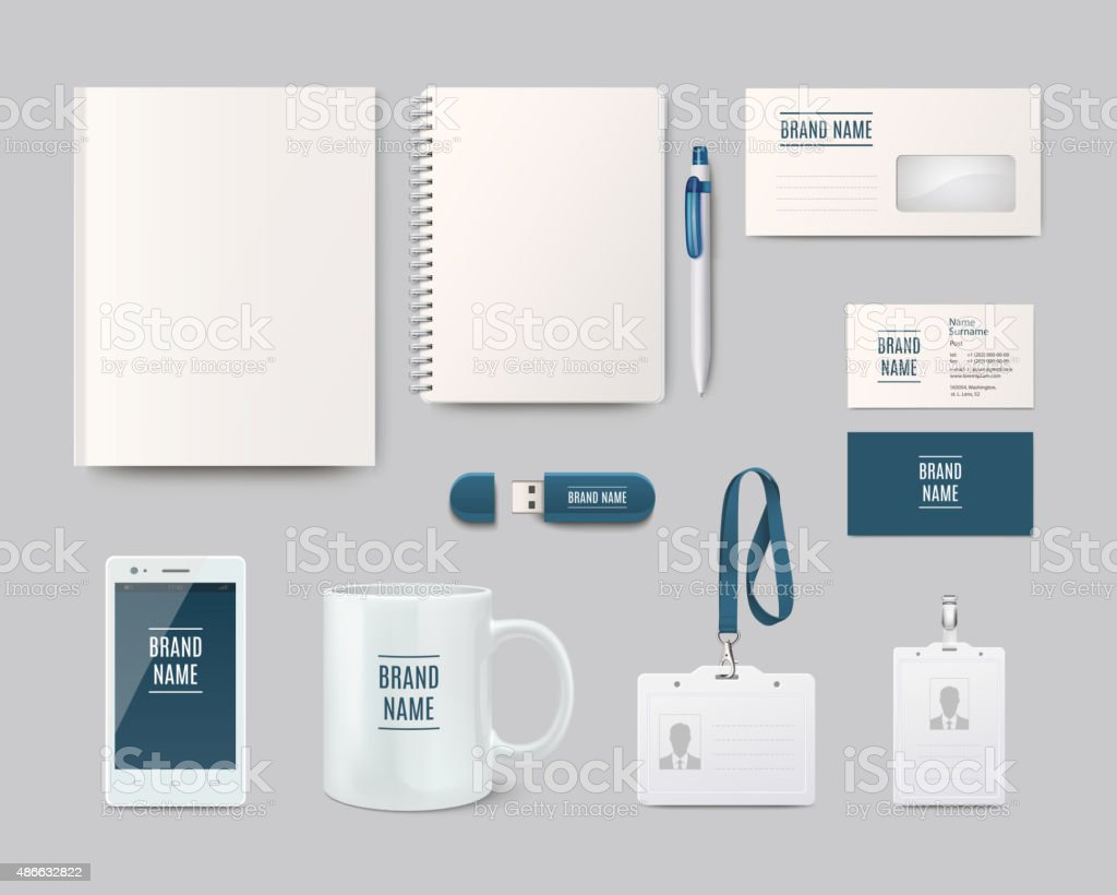 Modern corporate identity template design. Vector illustration vector art illustration