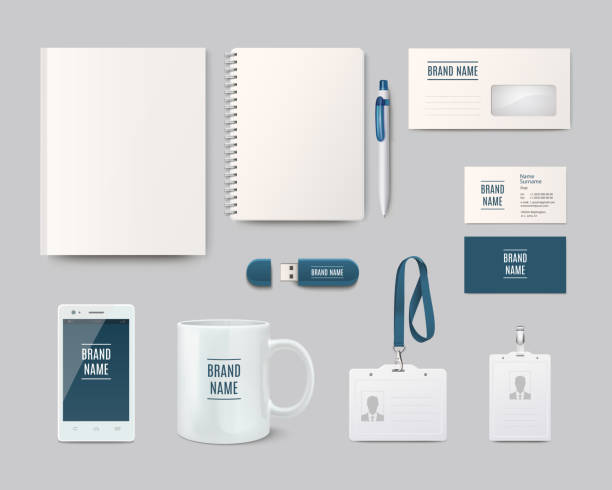 modern corporate identity template design. vector illustration - stationery templates stock illustrations