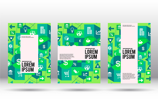 Modern cover design on business
