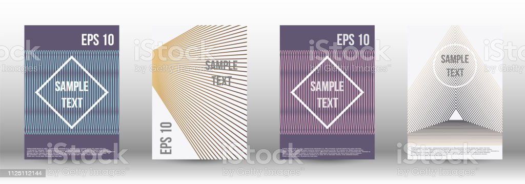 A modern cover design template. A set of modern abstract covers....