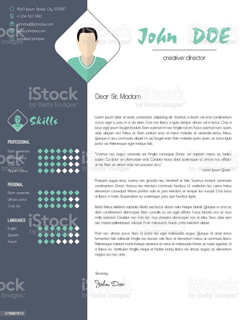 modern cover letter with design elements royalty free modern cover letter with design elements stock