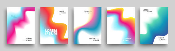 Modern Covers Template Design. Set of Trendy Abstract Gradient shapes for Presentation, Magazines, Flyers, Annual Reports, Posters and Business Cards vector art illustration