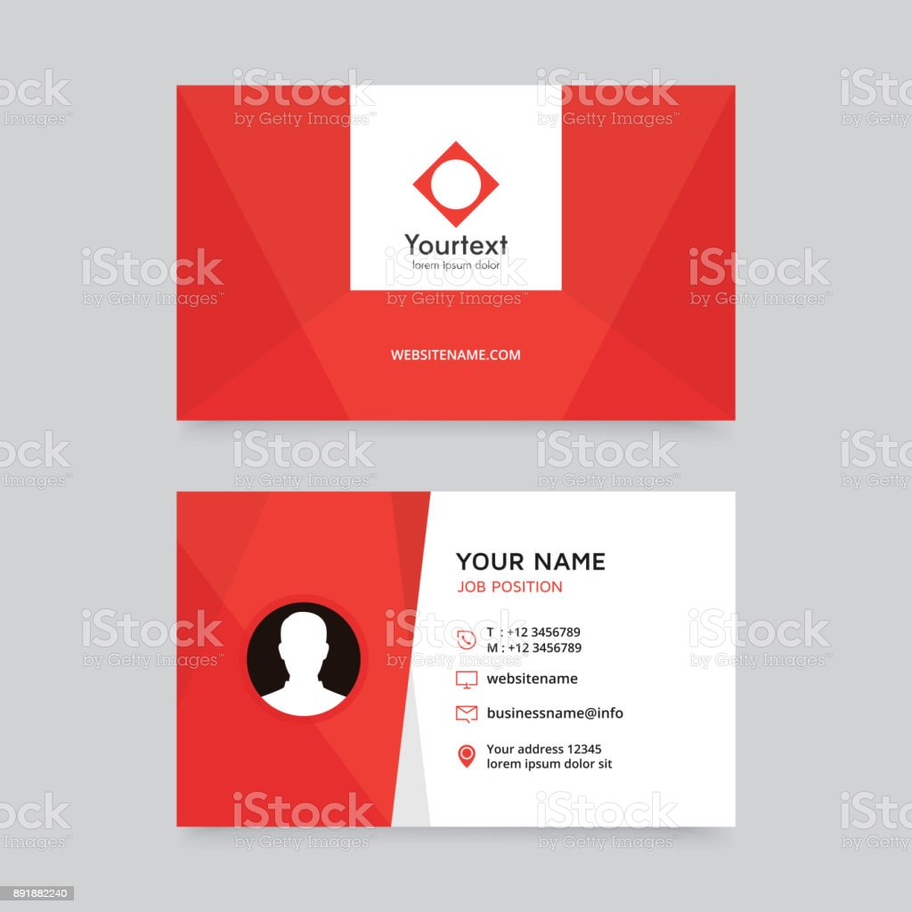 Modern Creative And Clean Business Card Design With Red And White ...