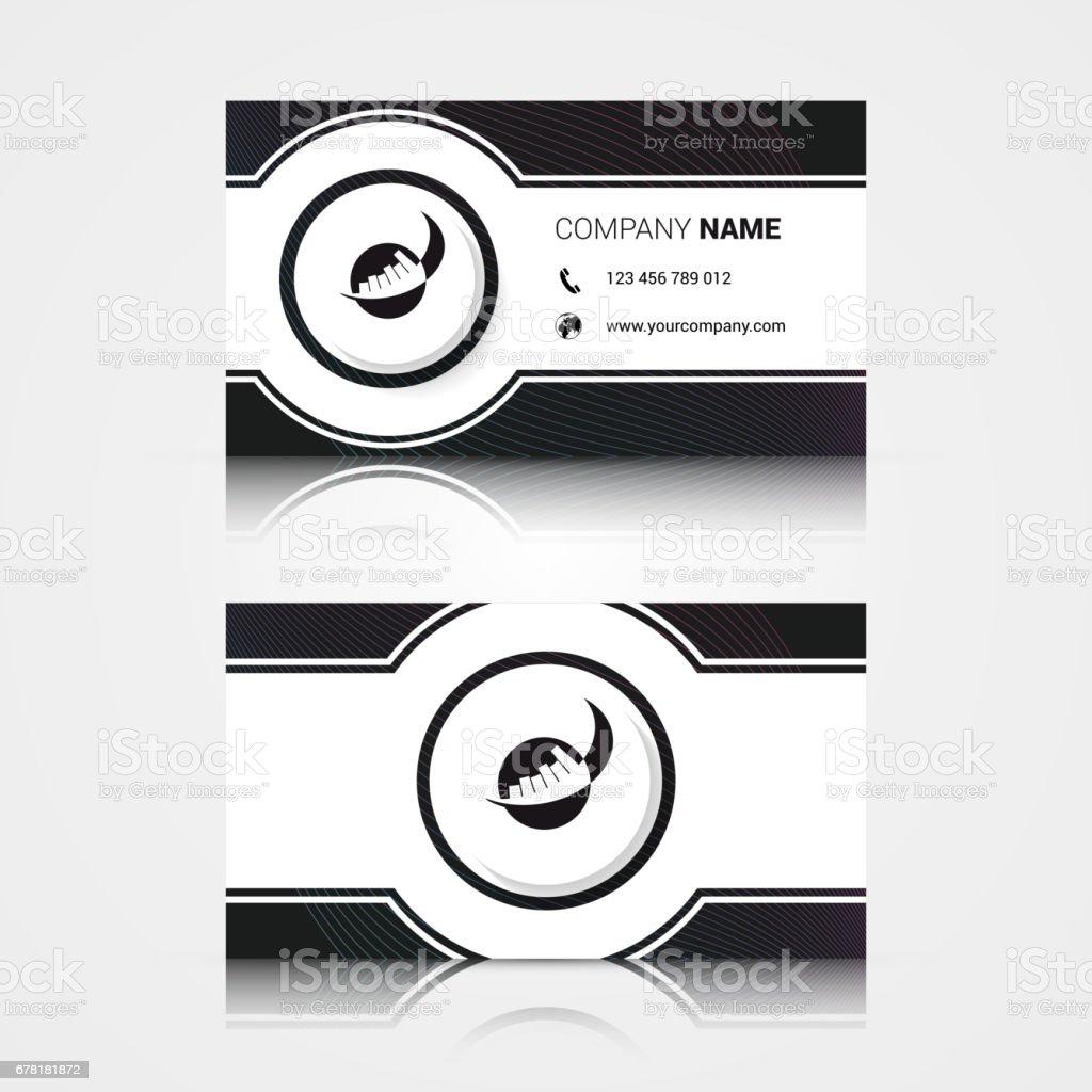 Moderne Kreative Und Saubere Visitenkarte Vorlage Stock Vektor Art ...